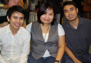 Eon Miranda, Elyss Punsalan and Oscar Alvarez, who came entirely of their own volition and not at gunpoint or anything.