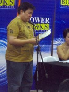 """Luis """"another Palanca"""" Katigbak reading an excerpt of """"The Bridge"""""""